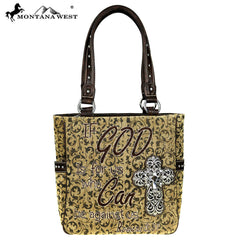 MW515-8281 Montana West Scripture Bible Verse Collection Handbag
