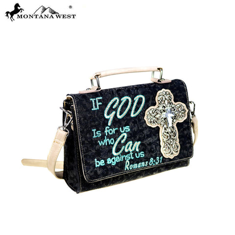 MW515-8360 Montana West Scripture Bible Verse Collection Crossbody