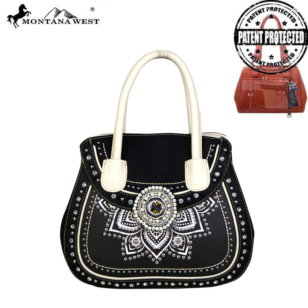 b90453e8736f MW523G-8103 Montana West Concho Collection Concealed Handgun Satchel