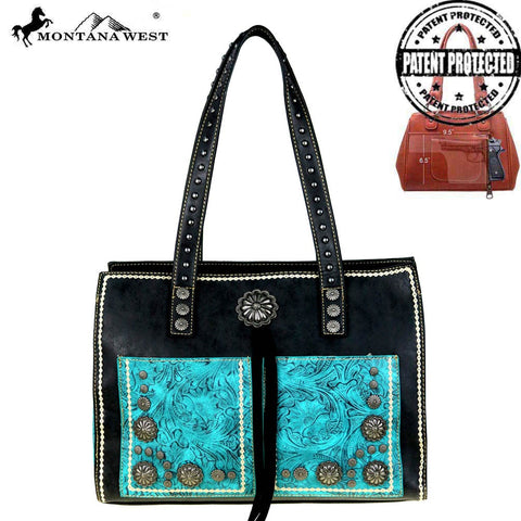 MW525G-8394 Montana West Concho Collection Concealed Handgun Satchel Bag