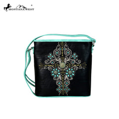 MW550-8300 Montana West Concho Collection Crossbody Bag