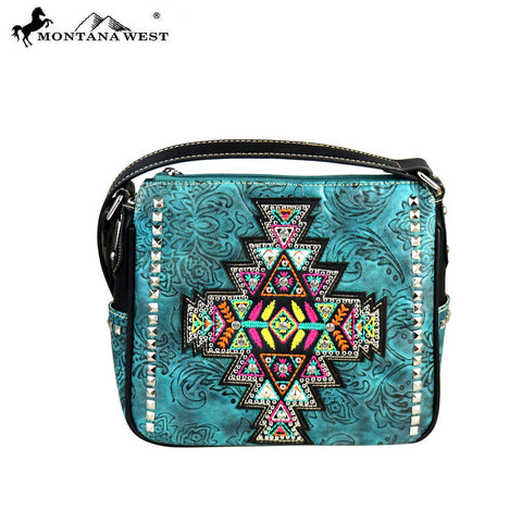 MW554-8370 Montana West Aztec Collection Crossbody