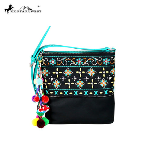 MW577-8300 Montana West Embroidered Collection Crossbody