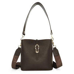 MWL-009 Montana West Real Leather Shoulder/Crossbody Bag - Coffee