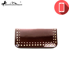 PW01-W016  Montana West Phone Charging Shiny Collection Clutch Wristlet