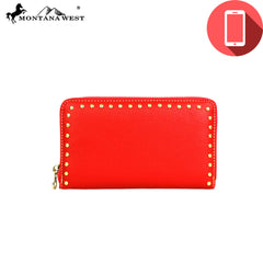 PW03-W003 Montana West Phone Charging Studs Collection Wristlet