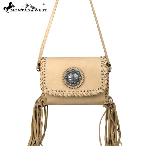 RLC-L072  Montana West 100% Real Leather Crossbody