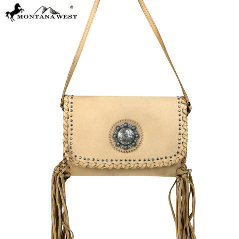 RLC-L073  Montana West 100% Real Leather Crossbody
