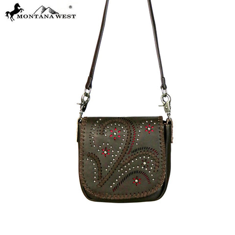 RLC-L095 Montana West Leather Crossbody