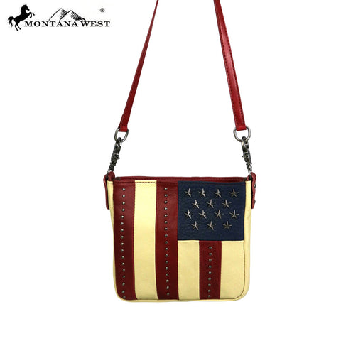 RLC-US01 Montana West  American Pride Collection 100% Real Leather Crossbody
