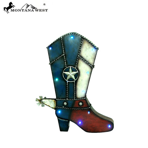 RSM-1782 Montana West Texas Color Boot Shape Wall Light Decor