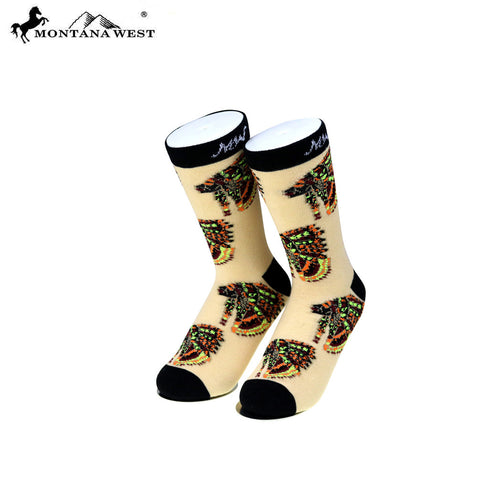 SK-001 Montana West Indian Chief Collection Sock (12pcs/Box)