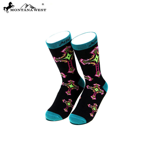 SK-002  Montana West Spiritual Collection Sock (12pcs/Box)