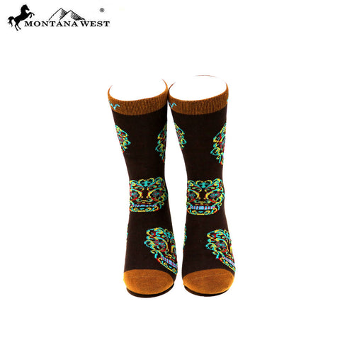 SK-003  Montana West Sugar Skull Collection Sock (12pcs/Box)