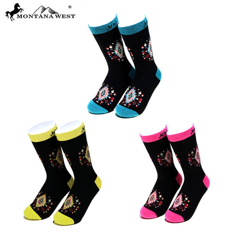 SK-006  Montana West  Aztec Collection Sock Assorted Color (6pcs/Box)