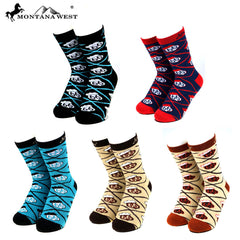 SK-013  Montana West Route 66 Collection Sock Assorted Color (6pcs/Box)
