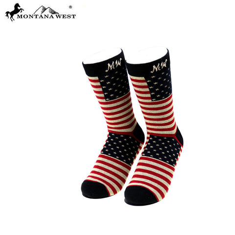 SK-US01 Montana West Patriotic Collection Sock (12pcs/Box)