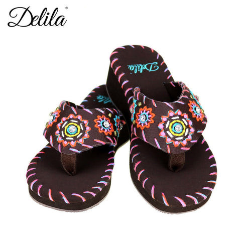 SS-S003  Delila Collection Flip Flops By Size
