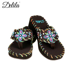 SS-S004  Delila Collection Flip Flops By Size