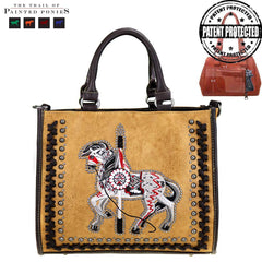 TPP01-8116 The Trail Of Painted Ponies Collection Concealed Handgun Tote/Messenger Bag