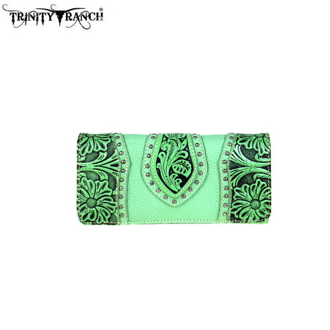 TR39-W002 Trinity Ranch Tooled Design Collection Wallet
