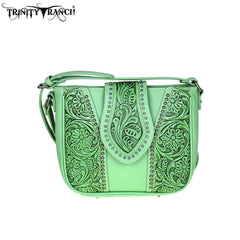 TR39-8360 Trinity Ranch Tooled Leather Collection Cross Body
