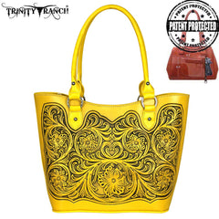 TR42G-8304 Trinity Ranch Tooled Leather Collection Concealed Tote