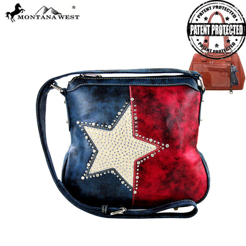 TX15G-8395 Montana West Texas Pride Collection Handbag