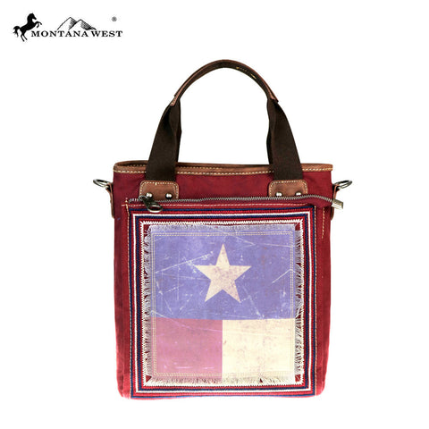 TX17G-8363  Montana West Texas Pride Collection Concealed Handgun Mini Tote/Messenger