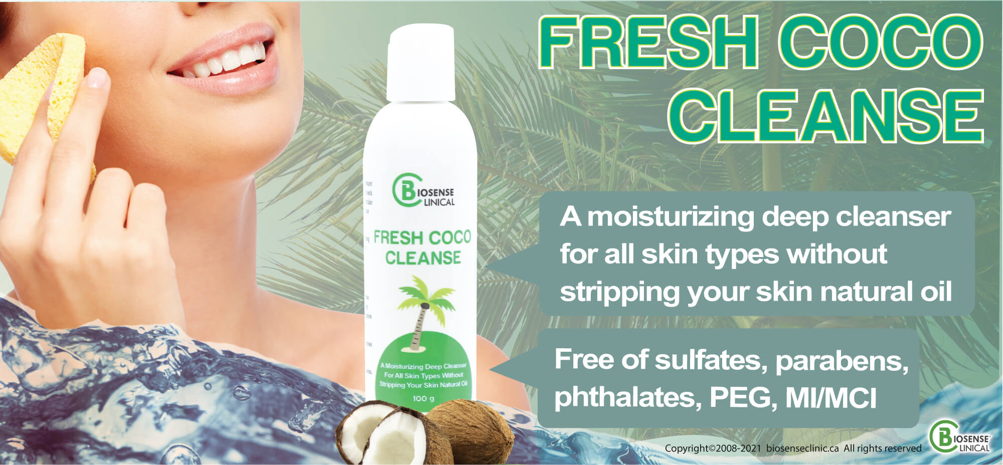 BiosenseClinical Professional Custom Compound Fresh Coco Cleanser product banner