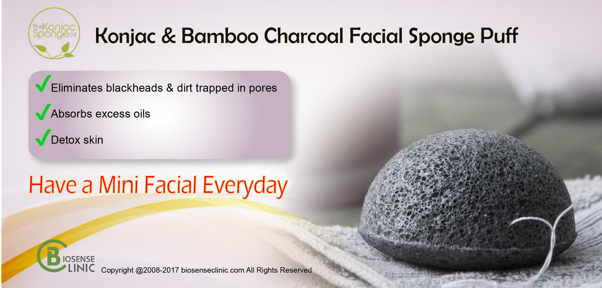 Konjac Facial Puff Sponge With Bamboo Charcoalbanner