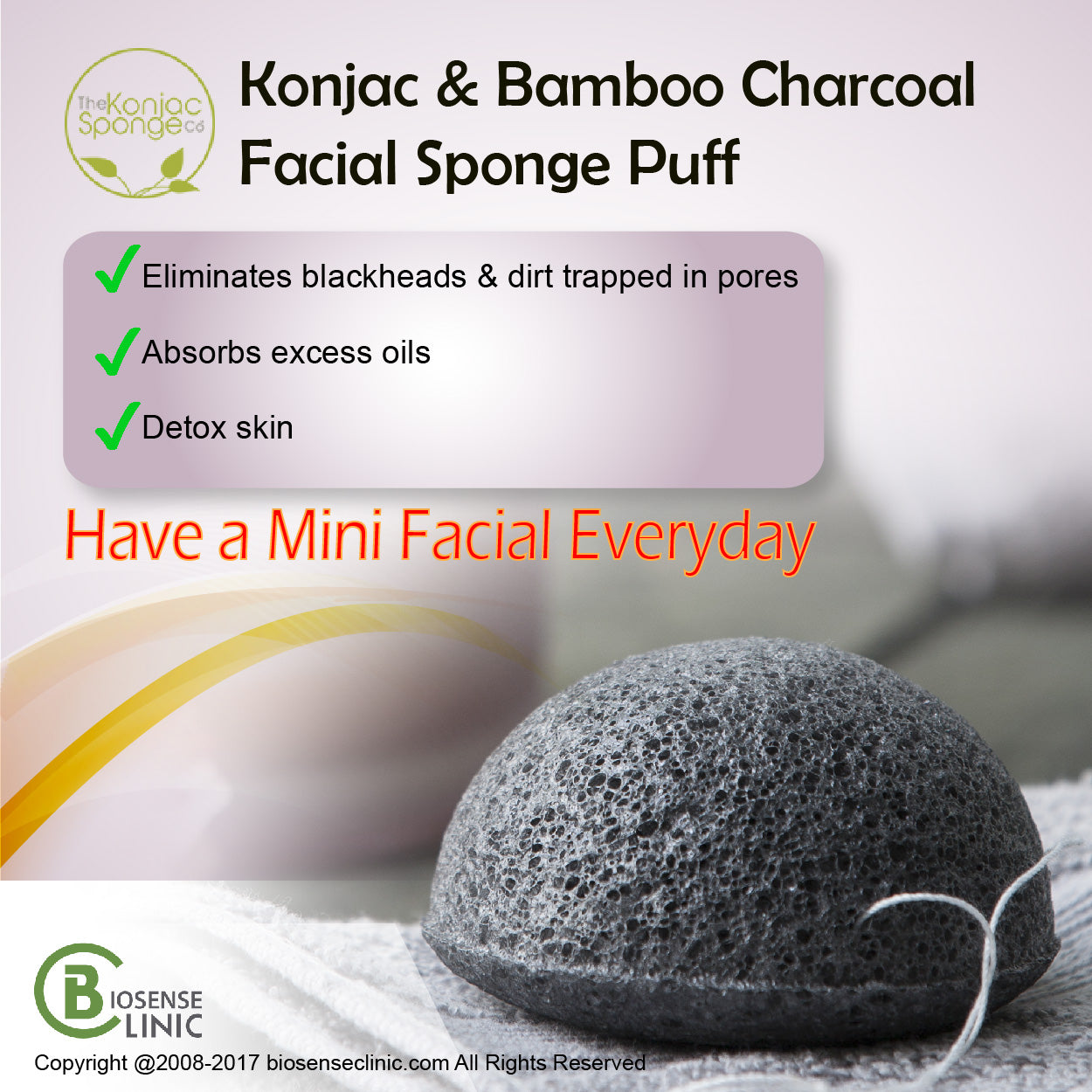 Konjac Facial Puff Sponge With Bamboo Charcoal mobile banner