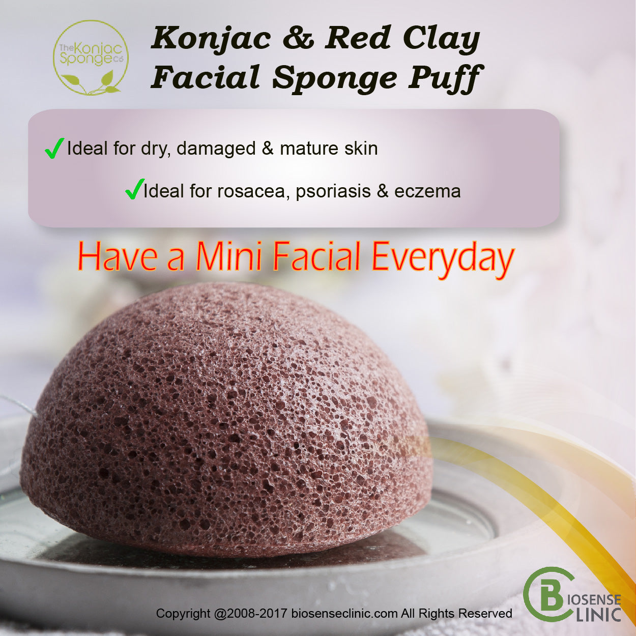Konjac & Red Clay Facial Sponge Puff mobile banner