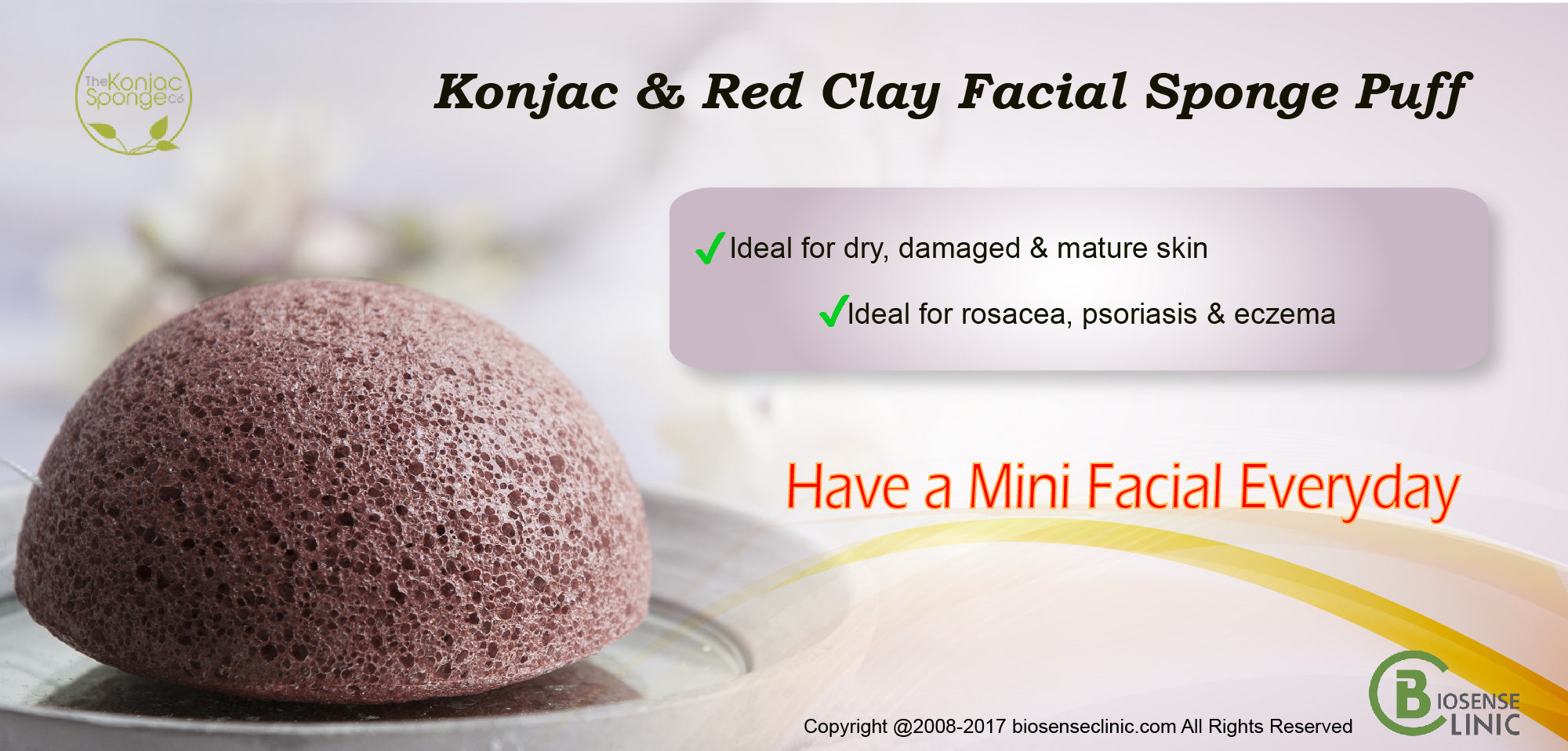Konjac & Red Clay Facial Sponge Puff banner