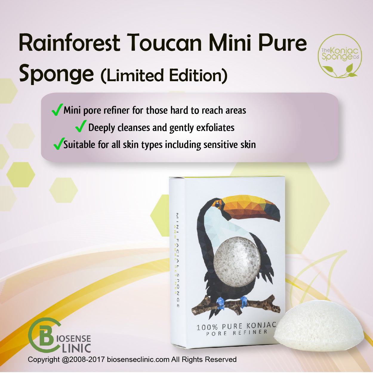 Konjac Mini Pore Refiner Rainforest Toucan mobile banner