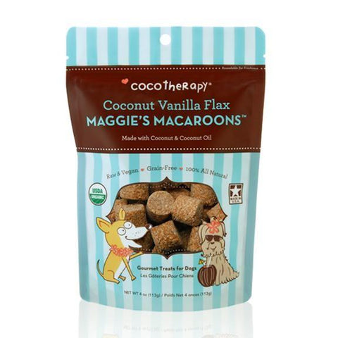 Cocotherapy Maggie's Macaroons Coconut Vanilla Flax - BiosenseClinic.ca