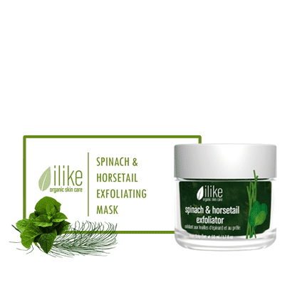 Ilike Gel Mask - Spinach & Horsetail Exfoliating - BiosenseClinic.ca