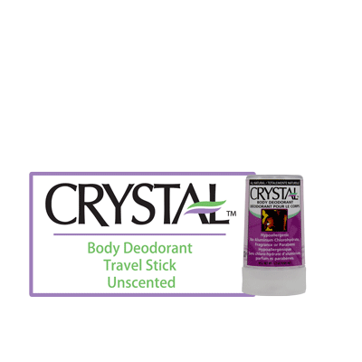Crystal Body Deodorant Stick - Unscented - BiosenseClinic.ca