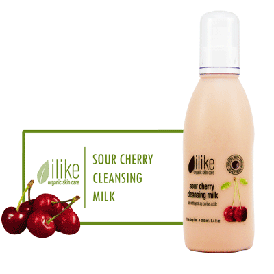 Ilike Cleansing Milk - Sour Cherry - BiosenseClinic.ca