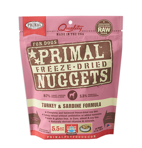 Raw Freeze Dried Canine Turkey Sardine Formula
