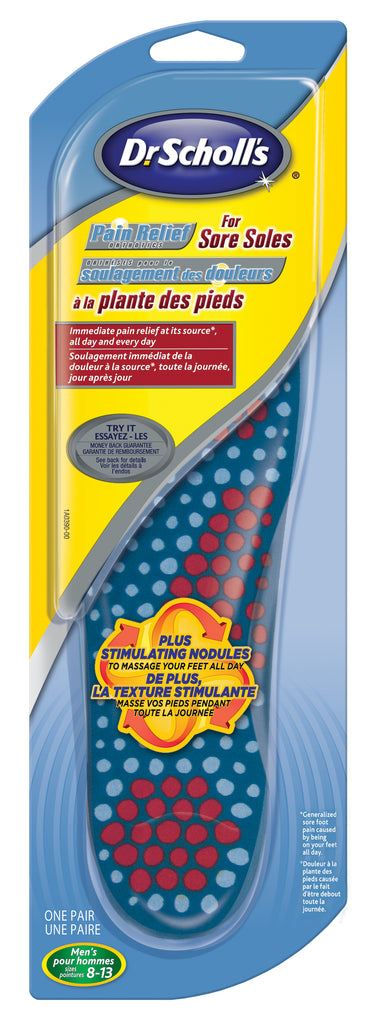 Dr.Scholl's Pain Relf Soles Men Orthotics Sore - BiosenseClinic.ca