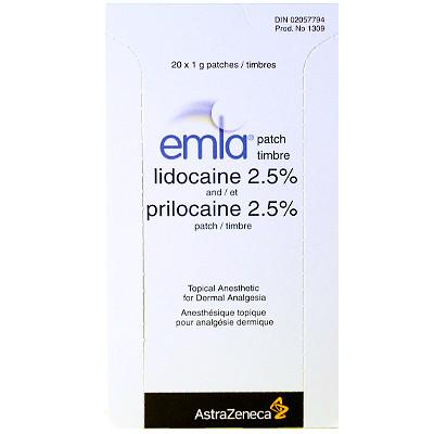 Emla Patch 20 x 1 gram - BiosenseClinic.ca