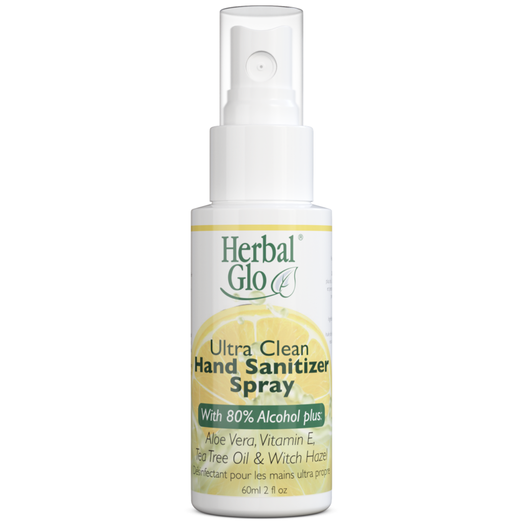 Herbal Glo Ultra Clean Hand Sanitizer Spray - BiosenseClinic.ca