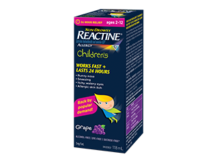 Zyrtec/Reactine Kids Syrup 24 Hour Relief - BiosenseClinic.ca