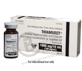 Vitamin B1 Injection - 100 mg/ml - BiosenseClinic.ca