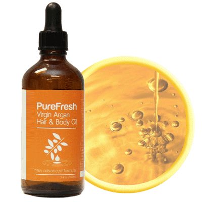 PureFresh Virgin Argan Body & Hair Oil - BiosenseClinic.ca