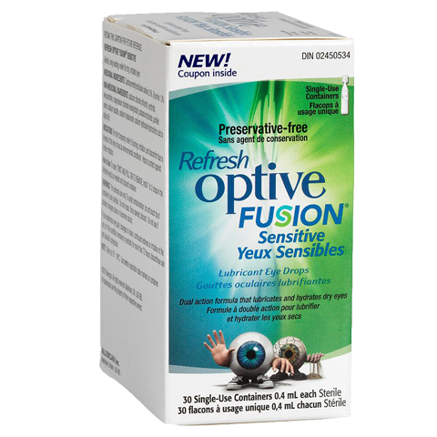 Refresh Optive Fusion Sensitive Lubricant Eye Drops - BiosenseClinic.ca