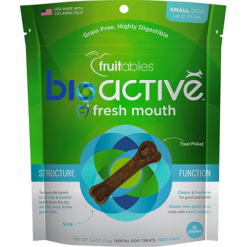 Fruitables Bioactive Fresh Mouth Dental Chew For Small Dogs - BiosenseClinic.ca