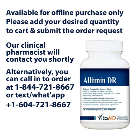 VitaAid Alliimin DR (Garlic Concentrate) - BiosenseClinic.ca