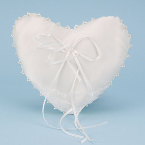 Ring Bearer Pillow Ivory ( 7 Inch x 8.5 Inch ) -